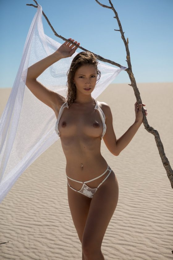 Miluniel Louis Nude In Sunkissed Oasis Playboy Model Pictures